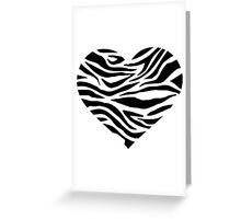Zebra heart Greeting Card