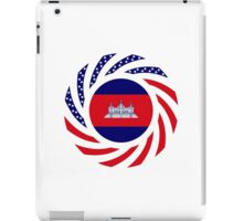 Cambodian American Multinational Patriot Flag iPad Case/Skin