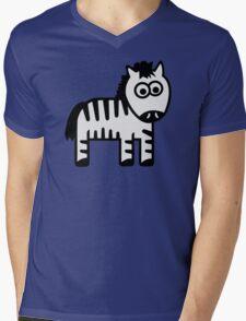 Comic zebra Mens V-Neck T-Shirt