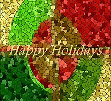 Stained Glass Holiday Greeting Panel by Shellibean1162