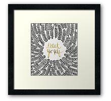 Treat Yo Self – Gold & Black Framed Print
