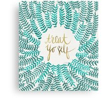 Treat Yo Self – Turquoise Canvas Print