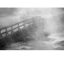 Steamy Walkway Photographic Print