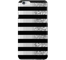 Glitch Stripes (B&W) iPhone Case/Skin