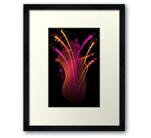 Abstract dynamic bright color stripes and shapes Framed Print