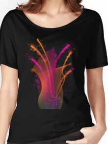 Abstract dynamic bright color stripes and shapes Women's Relaxed Fit T-Shirt