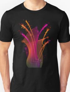 Abstract dynamic bright color stripes and shapes T-Shirt