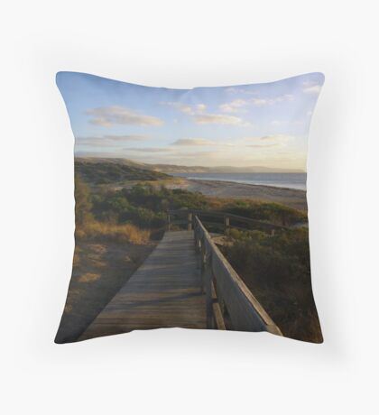 Carrickalinga Beach, South Australia Throw Pillow