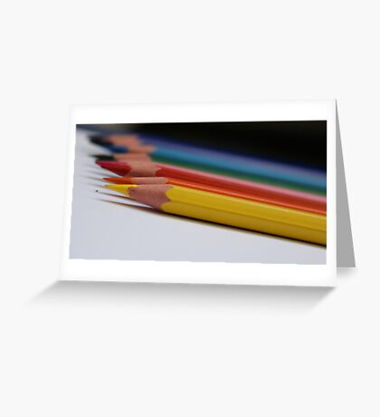 Coloured Pencils. Greeting Card