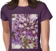 Petite Purple and white wild flowers  Womens Fitted T-Shirt