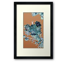 Blossom - Faded orange and grey Framed Print
