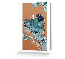 Blossom - Faded orange and grey Greeting Card