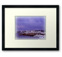 Appledore in Snow Framed Print
