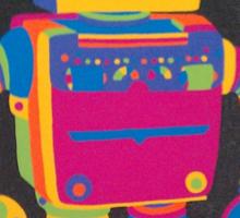 Neon Robot 1 Sticker