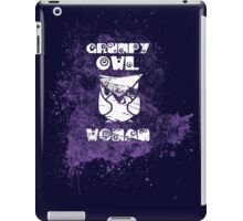 Grumpy Owl - Woman iPad Case/Skin