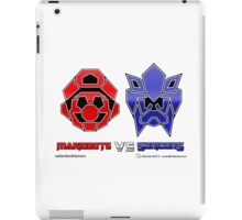 Console Wars: Mariobots vs Sonicons! iPad Case/Skin