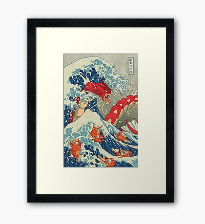 The Great Red Wave Framed Print