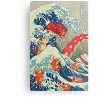 The Great Wave off Kanto - Shiny Version Metal Print