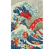 The Great Wave off Kanto - Shiny Version Photographic Print