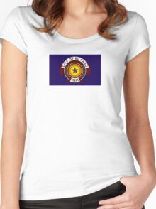 Flag of El Paso Women's Fitted Scoop T-Shirt