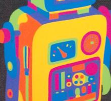 Neon Robot 3 Sticker