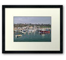 Misty Lyme Regis Harbour Framed Print