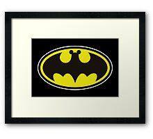 Batman Bat Mickey Framed Print