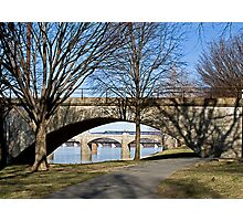 Morning View of Bridges in Spring Photographic Print