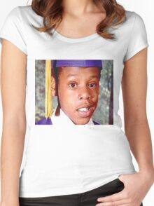 Young Jay Z Women's Fitted Scoop T-Shirt