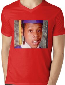 Young Jay Z Mens V-Neck T-Shirt