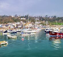Misty Lyme Regis Harbour - Impressions by Susie Peek