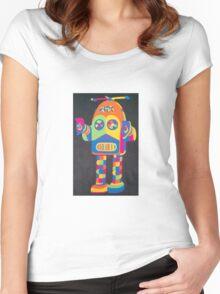 Neon Robot 4 Women's Fitted Scoop T-Shirt
