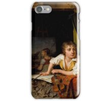 Martin Drolling - Painting and Music (Portrait of the Artists Son) iPhone Case/Skin