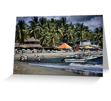 Fishing Boats in Puerto Escondido Greeting Card