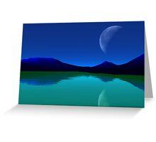 Earthlight - Blue Mountains,Green Seas. Greeting Card