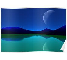 Earthlight - Blue Mountains,Green Seas. Poster