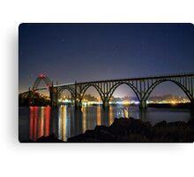 Bridge Under Stars Canvas Print
