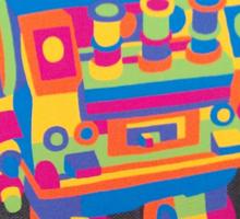 Neon Robot 5 Sticker