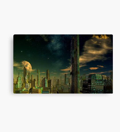 Beyond this Ruined Earth Canvas Print