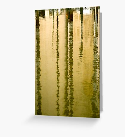Amber streaks Greeting Card
