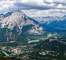 Panorama from Sulphur Mountain by Chris  Randall