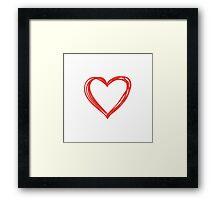 I'm just a normal heart Framed Print