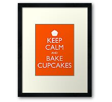 Keep Calm and Bake Cupcakes Framed Print