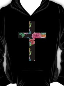 Christian Cross with roses T-Shirt