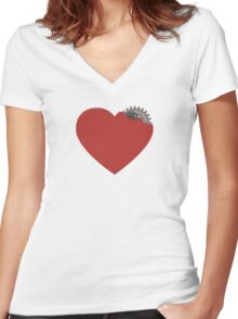 My heart is broken... or not? :) Women's Fitted V-Neck T-Shirt