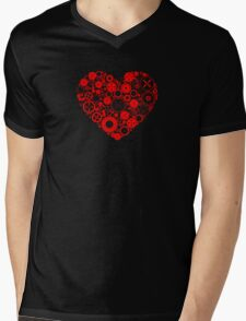 Mechanical Heart Mens V-Neck T-Shirt