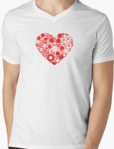 Mechanical Heart Mens V-Neck T-Shirt