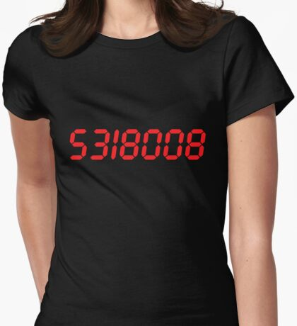 5318008 - Red Womens Fitted T-Shirt