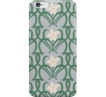 Art Nouveau Style White Flowers iPhone Case/Skin