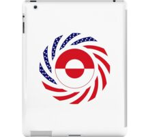 Greenlandic American Multinational Patriot Flag iPad Case/Skin